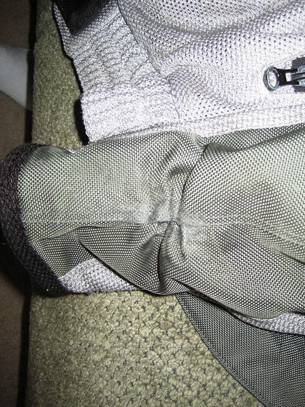 Left sleeve of jacket