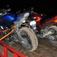 Bikes after our mudding trip.