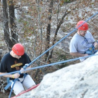 Repelling fun.
