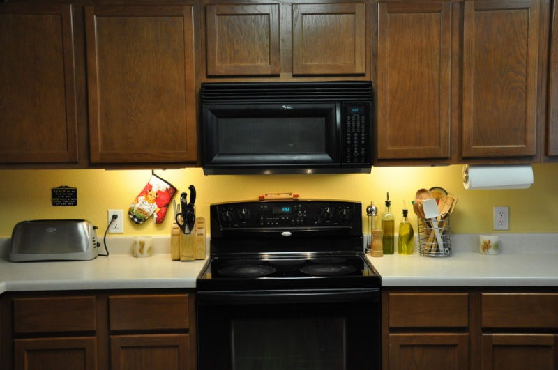 New Kitchen Lights Counter and Stove