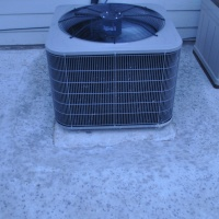 AC on original slab.