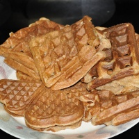 Whole Wheat (Soaked Grain) Waffles