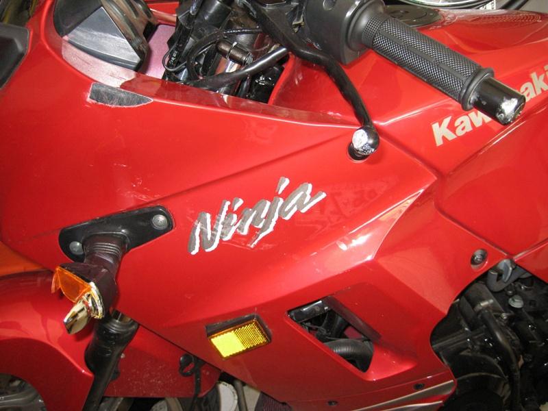 Left side of the bike