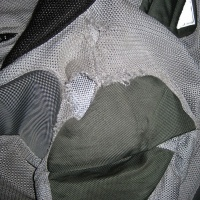 Left shoulder of the jacket