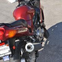 Kawasaki ZZR600 from rear